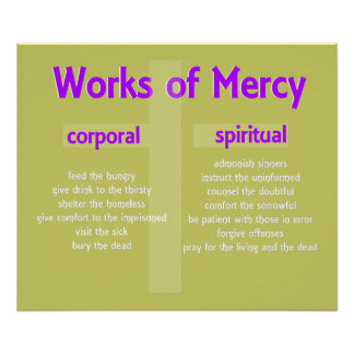 Works of Mercy Poster customisable graphic art