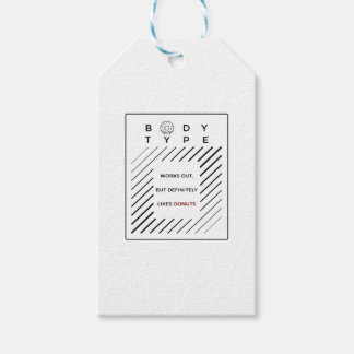 Works Out Loves Donuts Gift Tags