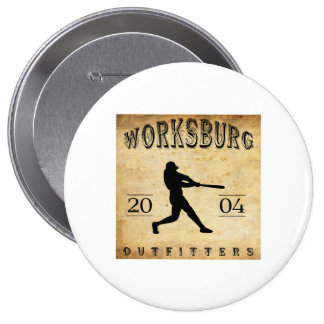 Worksburg Outfitters Baseball #1 Pinback Buttons