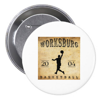 Worksburg Outfitters Basketball #1 Buttons