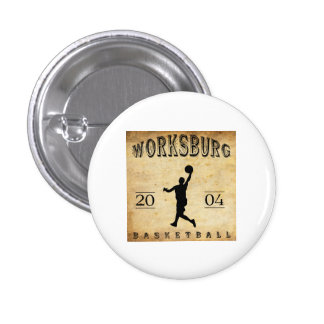 Worksburg Outfitters Basketball 1 Pinback Button
