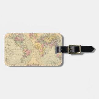 World. 2 luggage tag