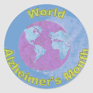 World Alzheimer's Month - September Classic Round Sticker