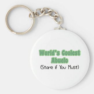 World's Coolest Abuelo Basic Round Button Key Ring