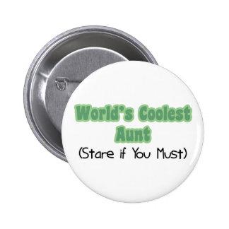 World's Coolest Aunt Pinback Buttons