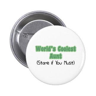 World's Coolest Aunt 6 Cm Round Badge