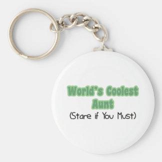 World's Coolest Aunt Keychains