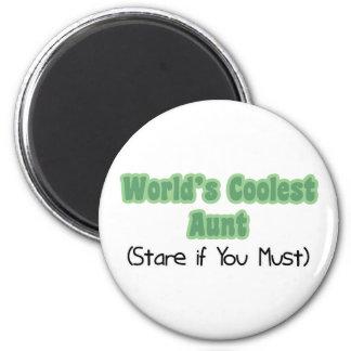 World's Coolest Aunt 6 Cm Round Magnet