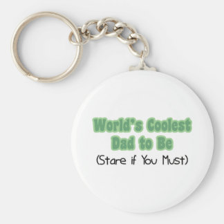 World's Coolest Dad to Be Basic Round Button Key Ring