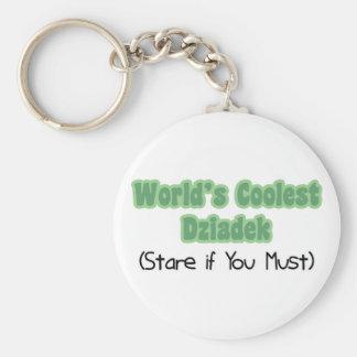 World's Coolest Dziadek Basic Round Button Key Ring