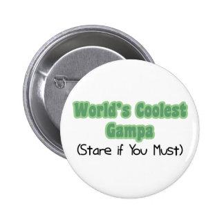 World's Coolest Gampa Pinback Button