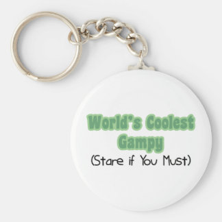 World's Coolest Gampy Basic Round Button Key Ring