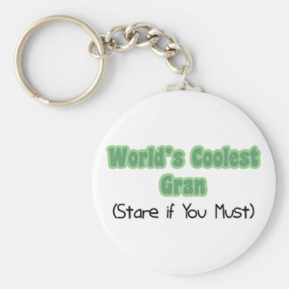 World's Coolest Gran Basic Round Button Key Ring