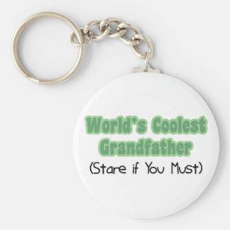 World's Coolest Grandfather Basic Round Button Key Ring