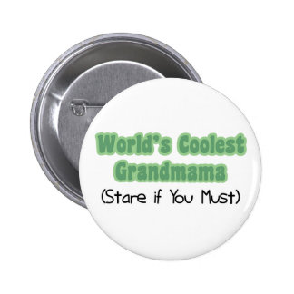 World's Coolest Grandmama Pinback Buttons