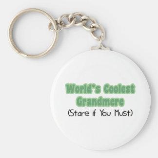 World's Coolest Grandmere Keychains