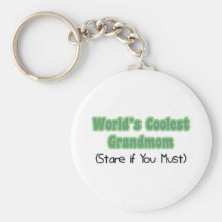 World's Coolest Grandmom Keychains