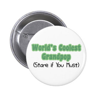 World's Coolest Grandpop 6 Cm Round Badge