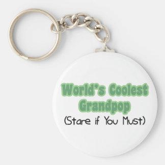 World's Coolest Grandpop Keychains