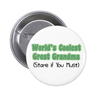 World's Coolest Great Grandma Pinback Buttons