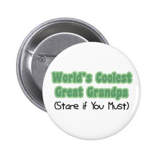 World's Coolest Great Grandpa 6 Cm Round Badge