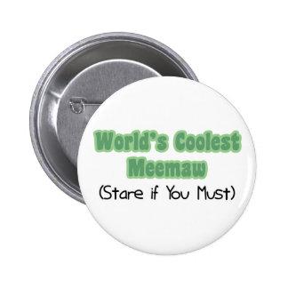 World's Coolest Meemaw 6 Cm Round Badge