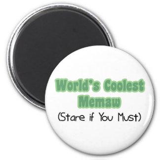 World's Coolest Memaw Refrigerator Magnets