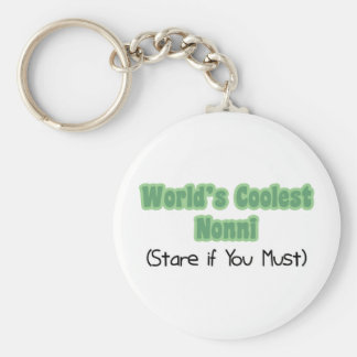 World's Coolest Nonni Basic Round Button Key Ring