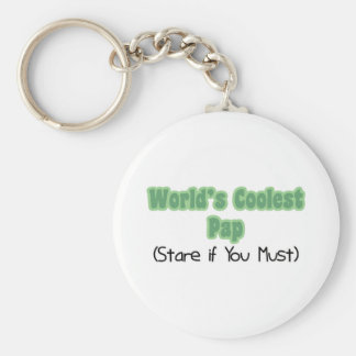 World's Coolest Pap Basic Round Button Key Ring