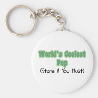World's Coolest Pop Basic Round Button Key Ring