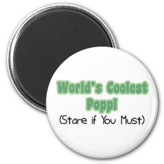 World's Coolest Poppi 6 Cm Round Magnet
