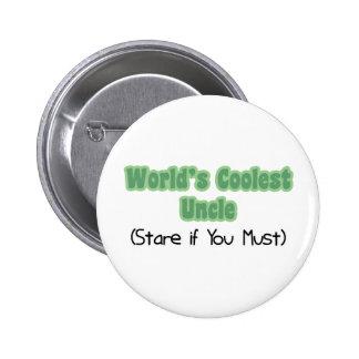 World's Coolest Uncle 6 Cm Round Badge