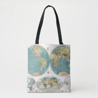 World Atlas Map 2 Tote Bag