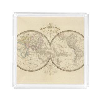 World Atlas Map Acrylic Tray