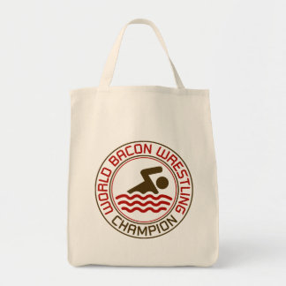 World Bacon Wrestling Champion Grocery Tote Bag