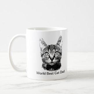 World Best Cat Dad Basic White Mug