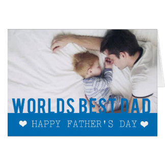 World Best Dad Photo Template Card