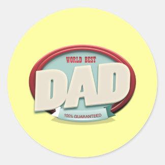 world best dad sticker