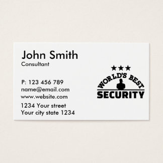 World' best security business card