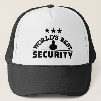 World' best security trucker hat