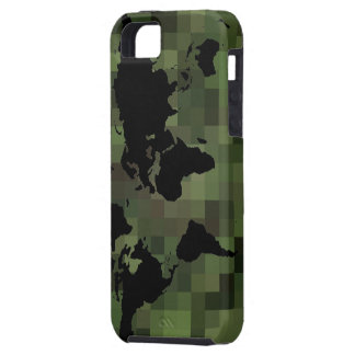 world black graphic map iPhone 5 cases