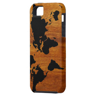 world black graphic map iPhone 5 covers