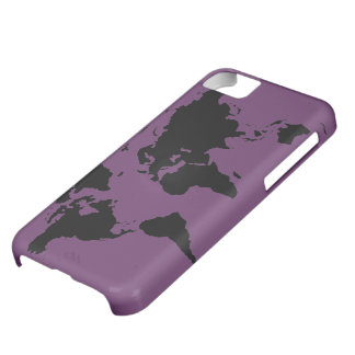 world black graphic map iPhone 5C case