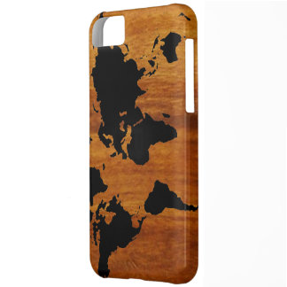 world black graphic map iPhone 5C case