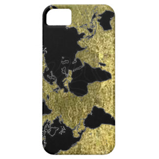 World black map iPhone 5 cover