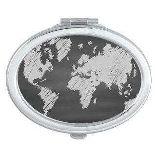 World Chalkboard Map Travel Mirrors