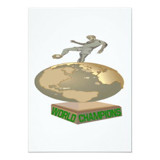 World Champions 13 Cm X 18 Cm Invitation Card