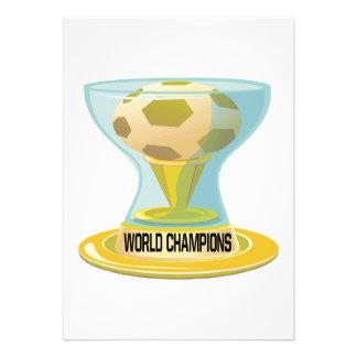 World Champions Personalized Invitation