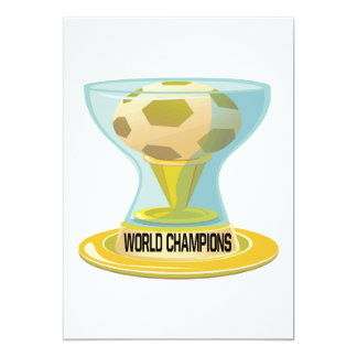 "World Champions 5"" X 7"" Invitation Card"