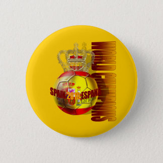 World Champions Spain 2010 futbol 6 Cm Round Badge
